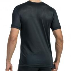 T-Shirt V-Neck RED 1516 Noir Olaf Benz