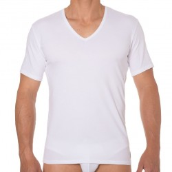 2-Pack CK One Cotton Stretch T-Shirts - White Calvin Klein