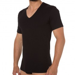Lot de 2 t-shirts CK One Cotton Stretch noirs Calvin Klein