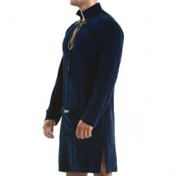 Wolf Bathrobe - Navy Modus Vivendi