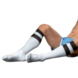 Football Socks - Black - White Barcode