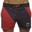 Blocking Color Short - Red - Navy