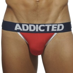 Lot de 3 Jock Straps Basic Rouge - Royal - Gris Addicted