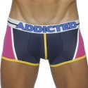Boxer Blocking Color Fuchsia - Marine
