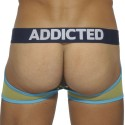 Contrast Jock Boxer - Navy - Lemon Green