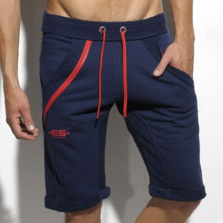 Inside Out Knee Pants - Navy