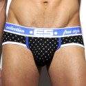 Necktie Print Brief - Black