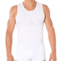Fit Man Sculpture Tank Top - White Dijo