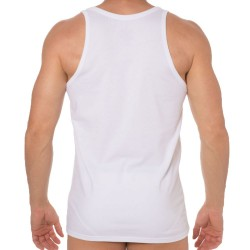 2-Pack CK One Cotton Stretch Tank Tops - White Calvin Klein