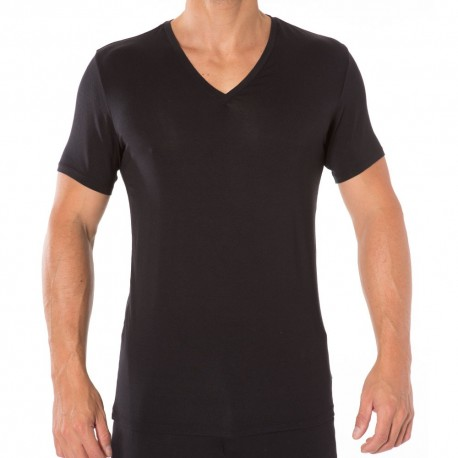Silk Modal T-Shirt - Black