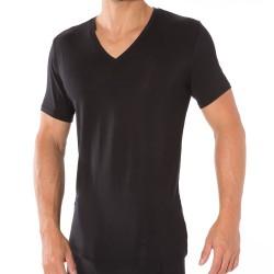T-Shirt Silk Modal Noir Calvin Klein