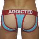 Holey Jock Brief - Turquoise - Red
