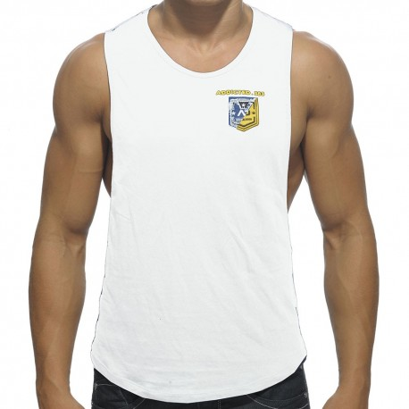 Badge Tank Top - White