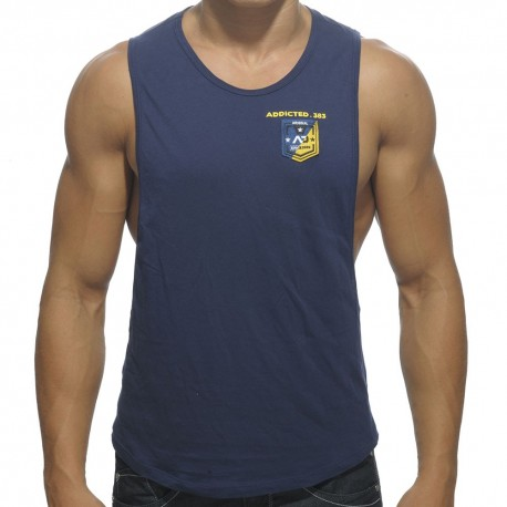 Badge Tank Top - Navy