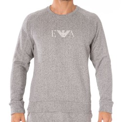 Sweat-Shirt French Terry Gris Chiné Emporio Armani