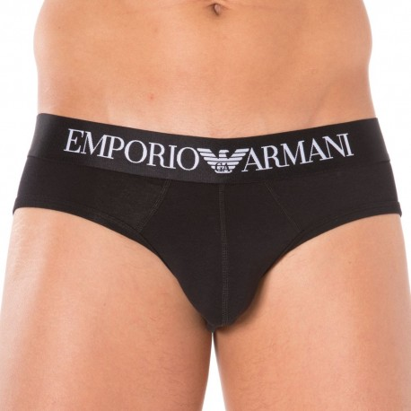 Stretch Cotton Brief - Black