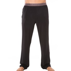Pantalon Shiny Elastic Band Modal Noir Emporio Armani