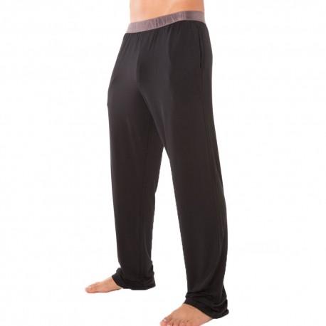 Pantalon Shiny Elastic Band Modal Noir
