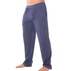Pantalon Denim Effect Loungewear Bleu Emporio Armani