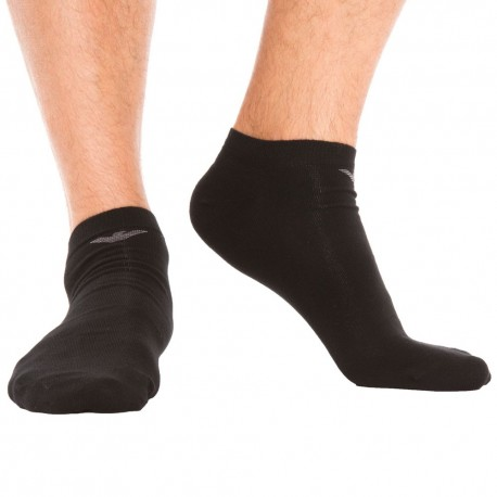 3-Pack Inside Cotton Mini Socks - Black