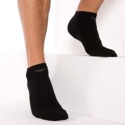 Lot de 3 Paires de Socquettes Inside Cotton Noires Emporio Armani