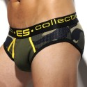 Mesh Military Brief - Camouflage - Yellow