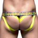 Twerk Y-Back Jock with Show-It - Black