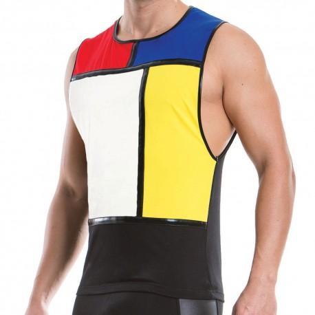 Mondrian Tank Top - Black