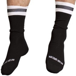City Socks - Black - White Barcode