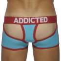 Holey Jock Boxer - Turquoise - Red