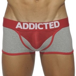 Boxer Bottomless Herringbone Gris - Rouge Addicted