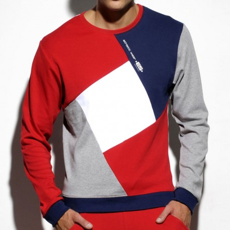 Sweat-Shirt Collage Rouge