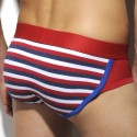 Stripes Mesh Brief - Red