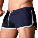 Gym Short - Navy - White