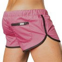 Gym Short - Pink - Black