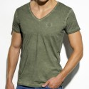 Embroidery T-Shirt - Khaki