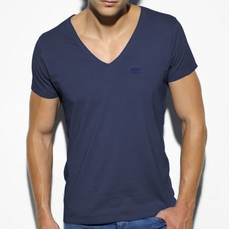 Embroidery T-Shirt - Cobalt