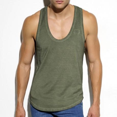 Embroidery Tank Top - Khaki