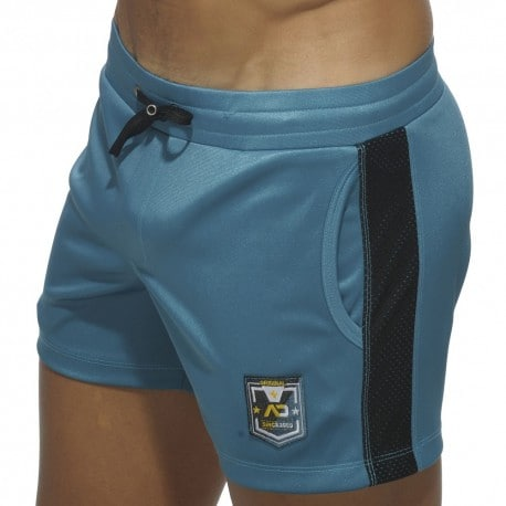 Short Badge Sport Bleu Canard