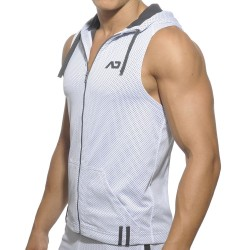 Veste Hoody Loop Mesh Blanche Addicted