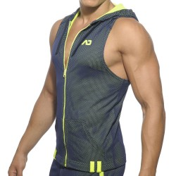 Veste Hoody Loop Mesh Marine Addicted