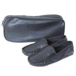 Mocassins d'intérieur Leather Noirs Emporio Armani