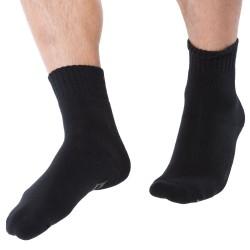 Chaussettes Antidérapantes Fancy Cotton Noires Emporio Armani