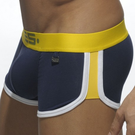 Rocky Double Side Mini Boxer - Navy - Yellow