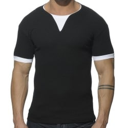 T-Shirt Ribbed Noir Addicted