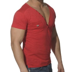 T-Shirt Button Down Rouge ES Collection