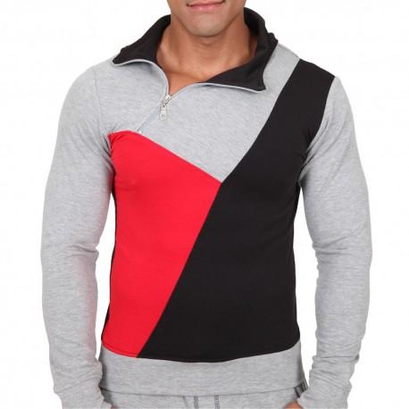 Elite Hoody - Grey - Red - Black