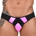 Adonis Brief - Pink - Black