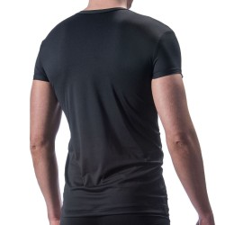 M200 V-Neck T-Shirt - Black Manstore