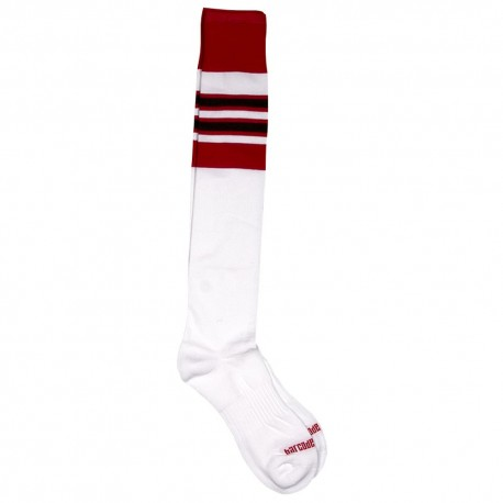 Football Socks - White - Red